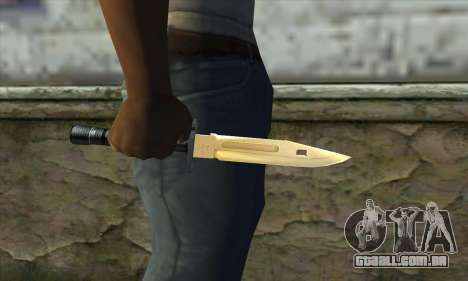 Golden Knife para GTA San Andreas terceira tela