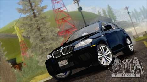 BMW X6M E71 2013 300M Wheels para GTA San Andreas traseira esquerda vista