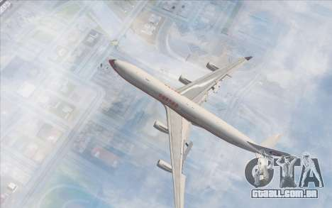 Airbus A340-300 China Eastern para GTA San Andreas traseira esquerda vista