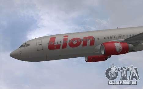 Lion Air Boeing 737 - 900ER para GTA San Andreas traseira esquerda vista
