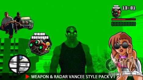 Arma & Radar VanCee Estilo Pack v1 para GTA San Andreas twelth tela