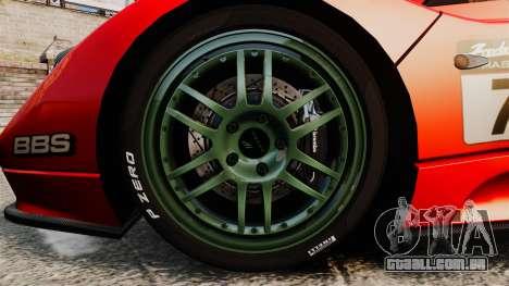 Pagani Zonda C12 S Roadster 2001 PJ6 para GTA 4 vista de volta