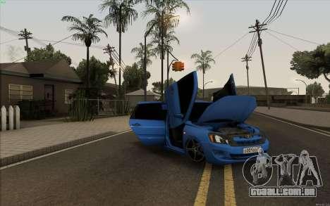 Lada Granta para GTA San Andreas vista interior
