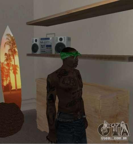 Novas bandanas, por CJ para GTA San Andreas sétima tela