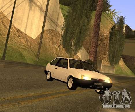 ВАЗ 2108 GVR Versão 2.0 para GTA San Andreas traseira esquerda vista
