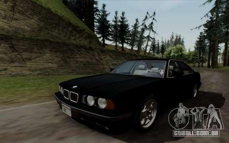 BMW 540i (E34) para GTA San Andreas vista direita