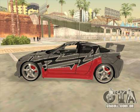 Mazda RX 8 из NFS Most Wanted para GTA San Andreas esquerda vista