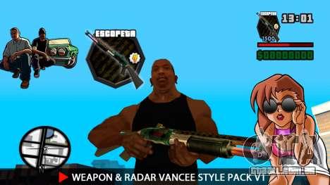 Arma & Radar VanCee Estilo Pack v1 para GTA San Andreas quinto tela