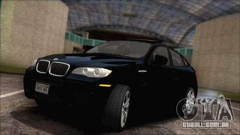 BMW X6M E71 2013 300M Wheels para GTA San Andreas vista interior