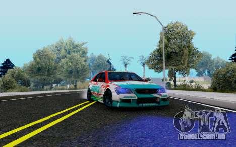 Toyota Altezza Addinol para GTA San Andreas vista traseira
