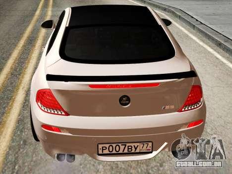 BMW M6 Hamann para GTA San Andreas vista direita