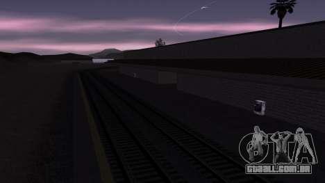 Novas texturas Estação ferroviária em Las Ventur para GTA San Andreas por diante tela
