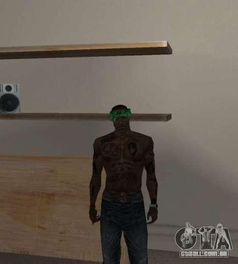 Novas bandanas, por CJ para GTA San Andreas quinto tela