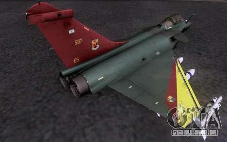 Dassault Rafale M para GTA San Andreas vista interior
