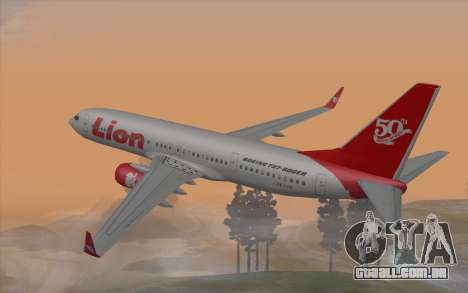 Lion Air Boeing 737 - 900ER para GTA San Andreas esquerda vista