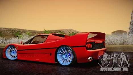 Ferrari F50 1995 para GTA San Andreas esquerda vista