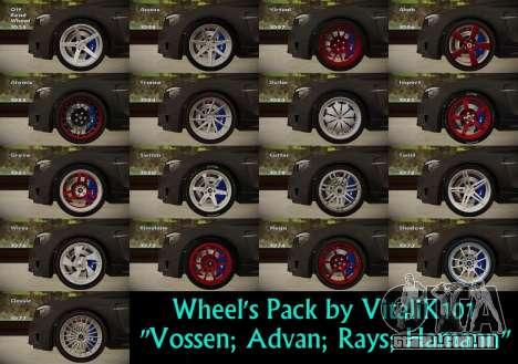 Wheels Pack by VitaliK101 para GTA San Andreas