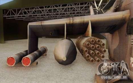 Mi-24D Hind from Modern Warfare 2 para GTA San Andreas traseira esquerda vista