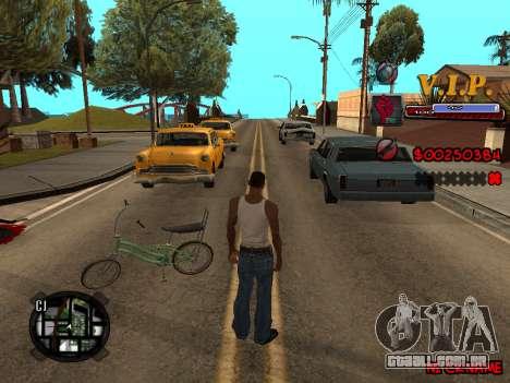 C-HUD VIP para GTA San Andreas por diante tela