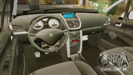Peugeot 207 RC para GTA 4 vista interior