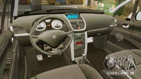 Peugeot 207 RC para GTA 4 vista interior
