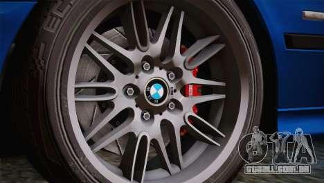 BMW E39 M5 2003 para GTA San Andreas vista interior