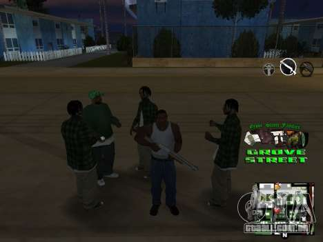 С-HUD Grove Street para GTA San Andreas quinto tela