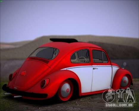 Volkswagen Beetle Stance para GTA San Andreas traseira esquerda vista