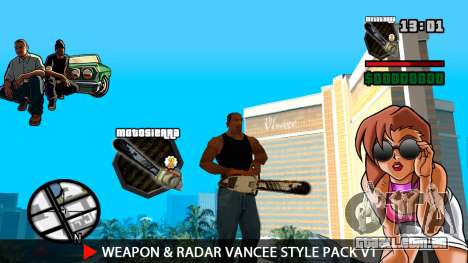 Arma & Radar VanCee Estilo Pack v1 para GTA San Andreas
