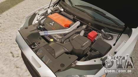 Mitsubishi Lancer Evolution X FQ400 para GTA 4 vista interior
