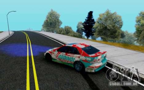 Toyota Altezza Addinol para GTA San Andreas traseira esquerda vista