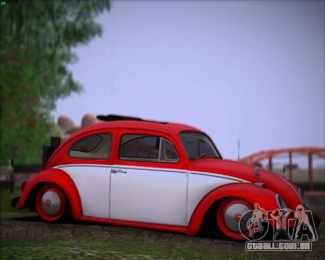 Volkswagen Beetle Stance para GTA San Andreas esquerda vista