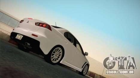 Mitsubishi Lancer Evolution para GTA San Andreas vista traseira
