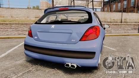 Peugeot 207 RC para GTA 4 traseira esquerda vista
