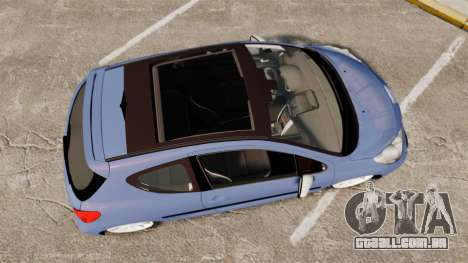 Peugeot 207 RC para GTA 4 vista direita