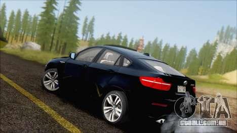 BMW X6M E71 2013 300M Wheels para GTA San Andreas esquerda vista