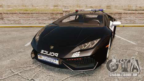 Lamborghini Huracan Cop [Non-ELS] para GTA 4