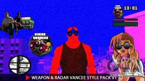 Arma & Radar VanCee Estilo Pack v1 para GTA San Andreas décima primeira imagem de tela