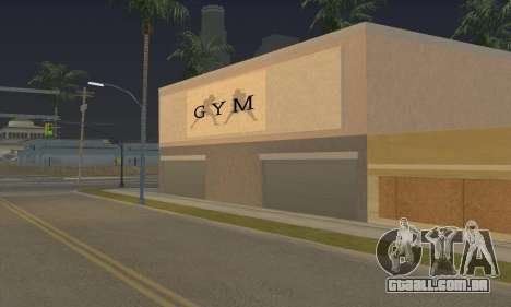 New gym para GTA San Andreas terceira tela