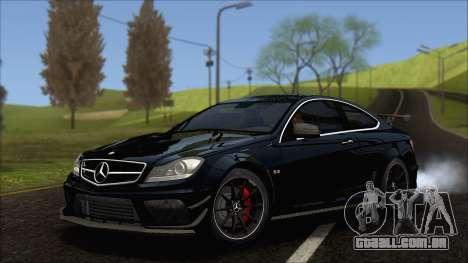 Mercedes C63 AMG Black Series 2012 para GTA San Andreas