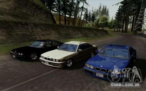 BMW 540i (E34) para GTA San Andreas vista interior