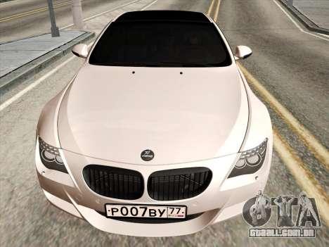 BMW M6 Hamann para GTA San Andreas esquerda vista