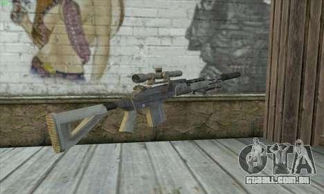 Sniper Rifle из MW2 para GTA San Andreas segunda tela