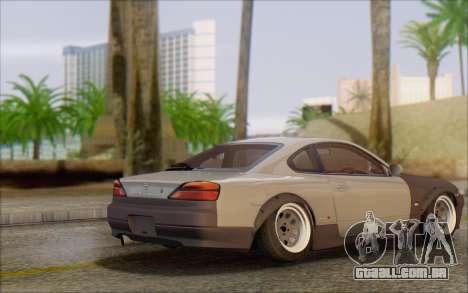 Nissan Silvia S15 Fail Camber para GTA San Andreas traseira esquerda vista