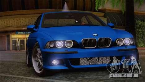 BMW E39 M5 2003 para GTA San Andreas vista superior