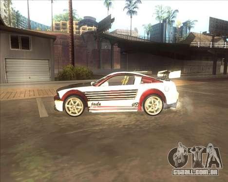 Ford Mustang GT из NFS MW para GTA San Andreas esquerda vista