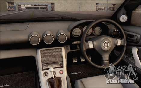 Nissan Silvia S15 Fail Camber para GTA San Andreas vista interior