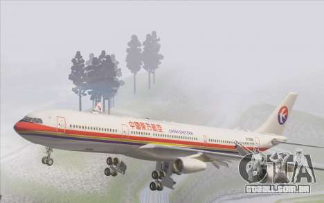 Airbus A340-300 China Eastern para GTA San Andreas interior