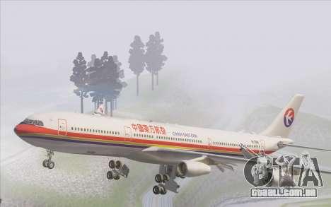 Airbus A340-300 China Eastern para GTA San Andreas interior