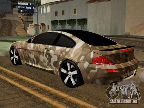 BMW M6 Hamann para GTA San Andreas vista superior
